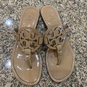 Beige Tory Burch Miller Sandals